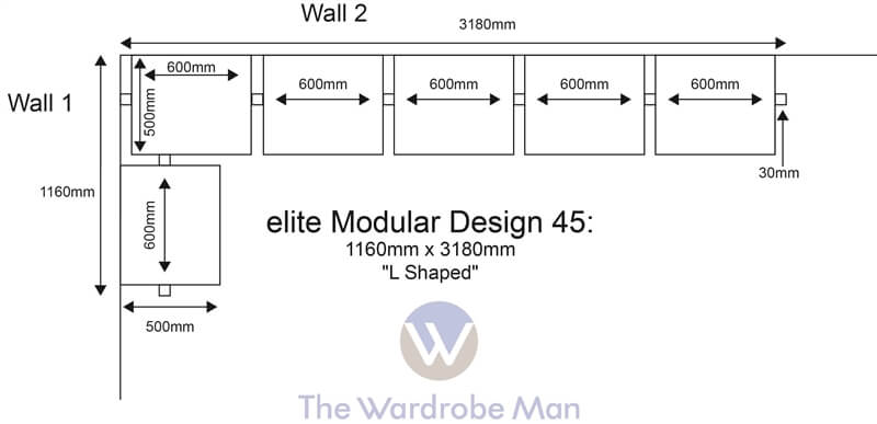 L Shaped Wardrobe Floor Plan