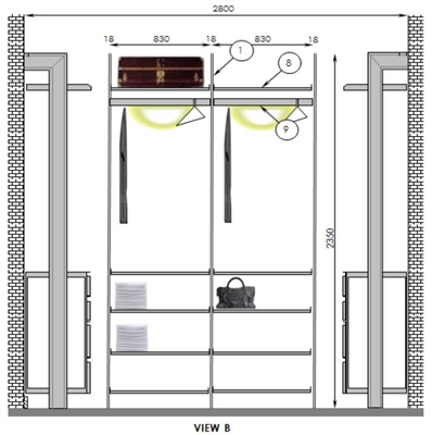 Walk In Robes Design Plan