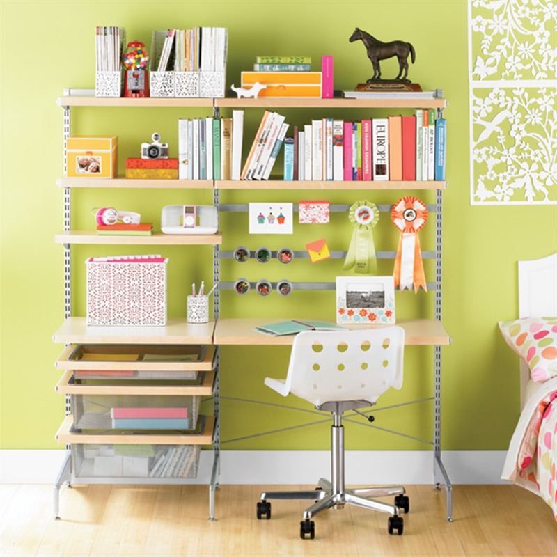 Elfa storage and shelving in the childrens rooms for Elfa desk system