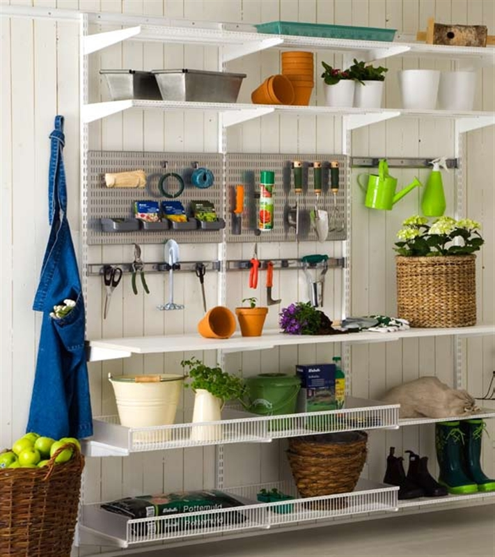 Elfa Garage Shelving System The Wardrobe Man Australia