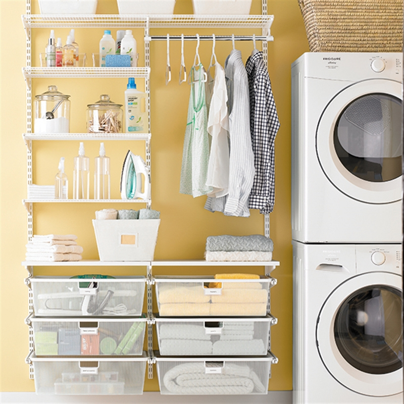 Elfa Storage Messy Laundry Room No More