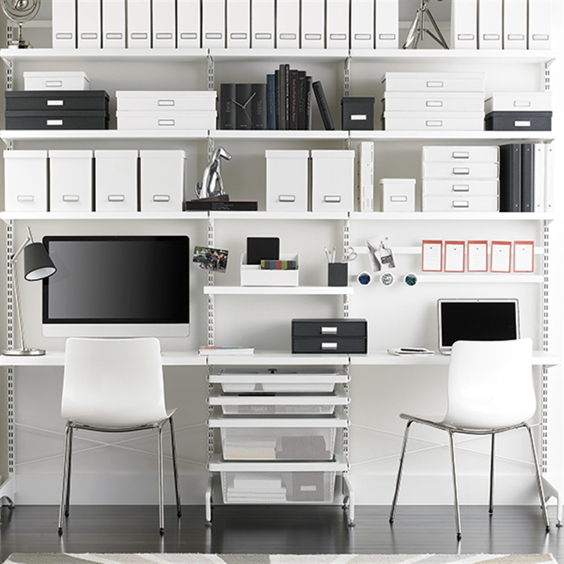 Elfa storage system is perfect for toy libraries and for Elfa desk system