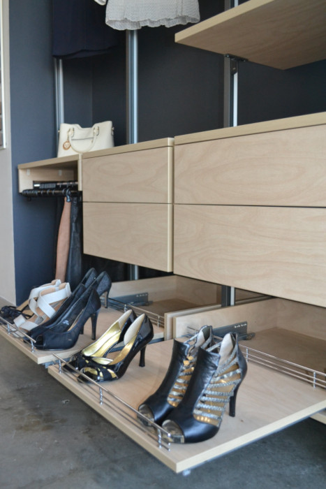 Gliding Shoe Shelves for Wardrobes and Walk in Robes